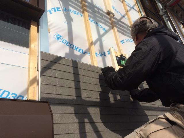 新築一戸建て外壁張り