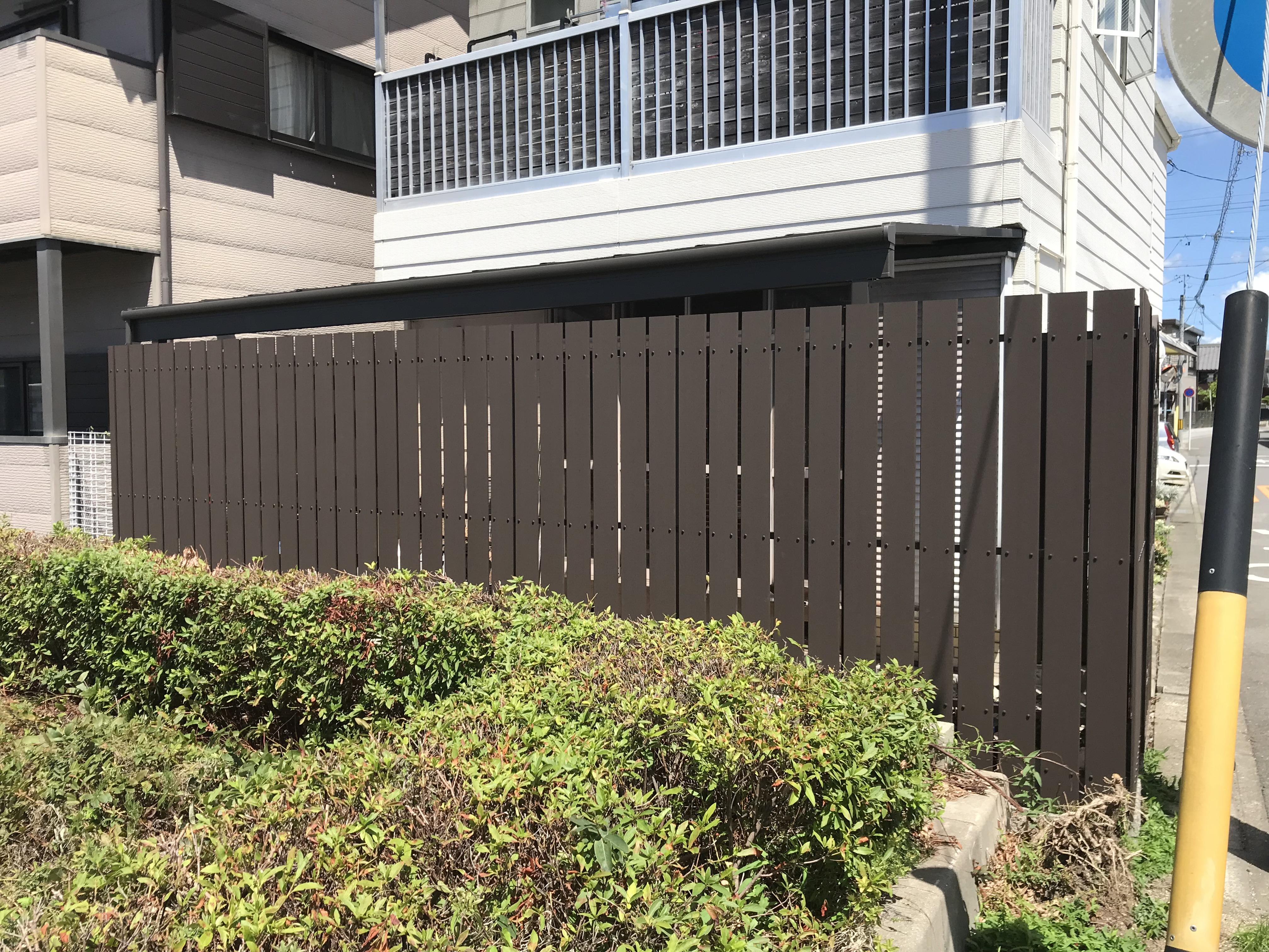 安城市の外構工事・フェンス取り換え工事施工事例 施工後