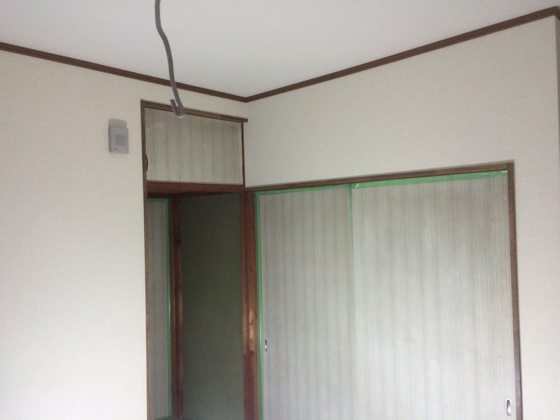 壁、天井クロス工事完了