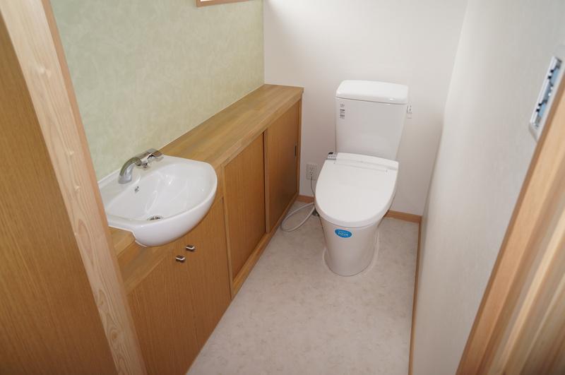 刈谷市の和風の平屋の家 トイレ