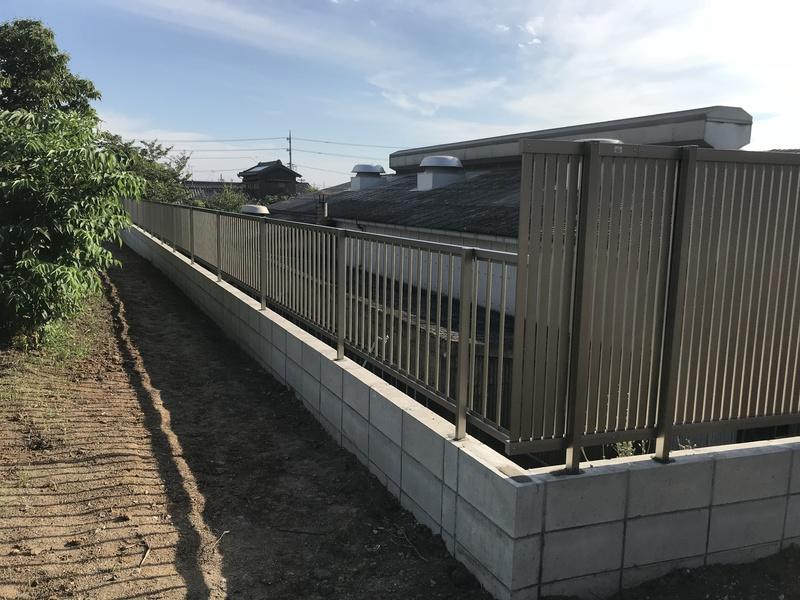 豊田市でフェンス・ブロックなどの外構工事の施工事例