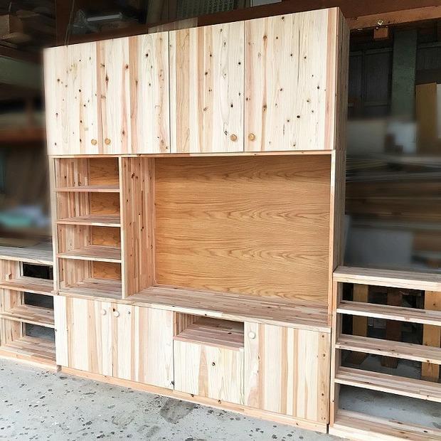 K様邸 テレビボード他家具の作成 (完了)