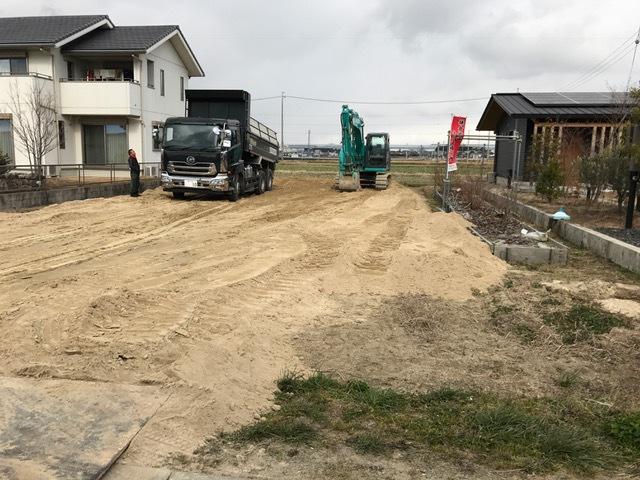 埋め立て整地工事