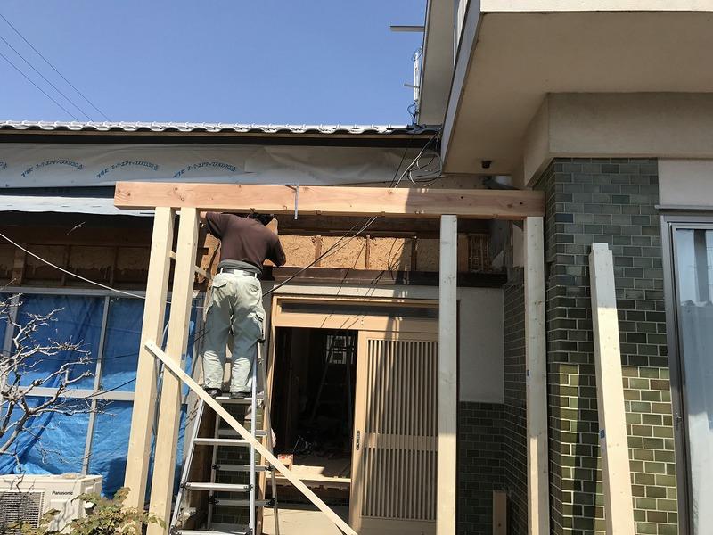 豊田市で玄関のリフォーム工事の施工事例