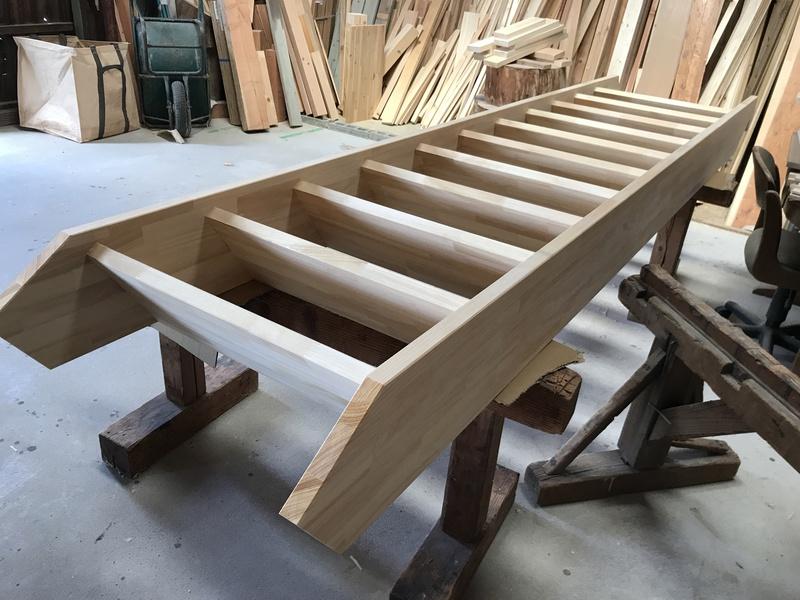 階段の加工、組立て