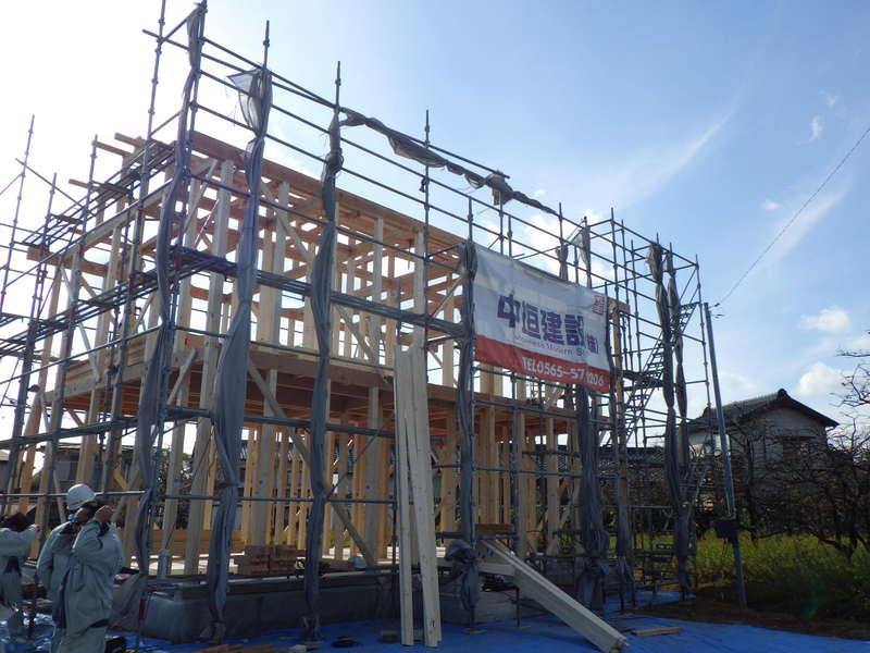豊田市 新築一戸建て 建て替え 工事中