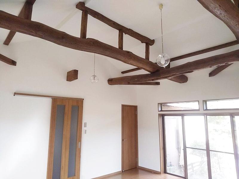 和室から洋室への改修完了、天井が3.0M以上高くなり面積は変わりませんが広く感じます。