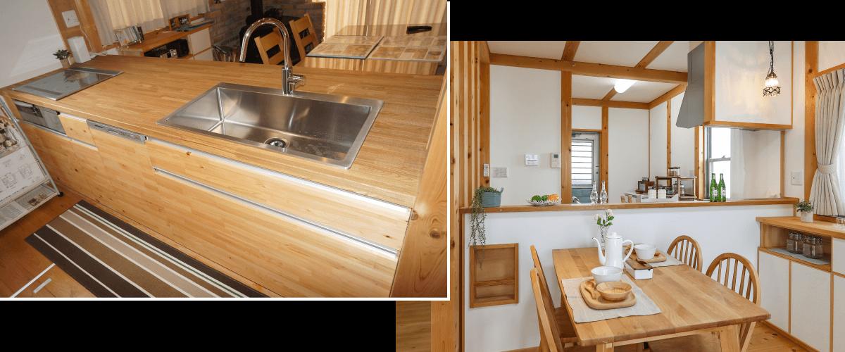 豊田市 みよし市のモデルハウス キッチン