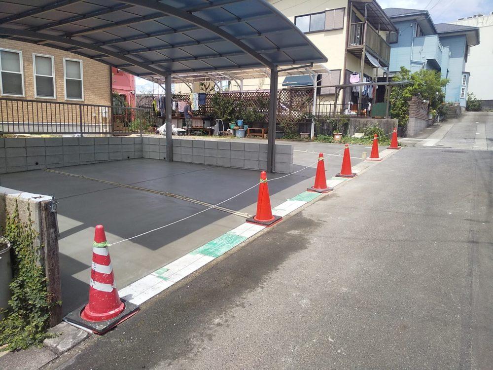 同居により駐車台数が増えスペースの整備