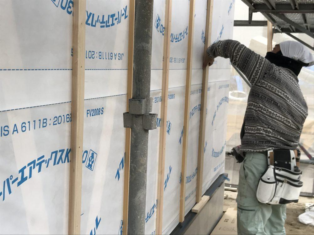 壁の断熱には壁体内の通風もしっかり施工